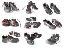 Colección de zapatos del deporte Fotografía de archivo