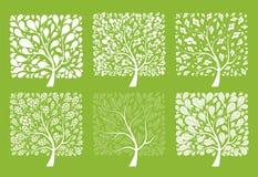Colección del árbol del arte para su diseño Foto de archivo libre de regalías