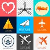 Colección del aeroplano del vector Fotografía de archivo libre de regalías
