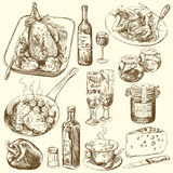 Colección del alimento stock de ilustración