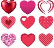 Colección del amor del corazón de la tarjeta del día de San Valentín Imagen de archivo