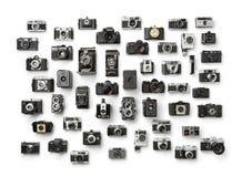 Colección del ` análogo s de la cámara del vintage imagenes de archivo