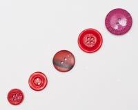 Colección del botón rojo Fotografía de archivo