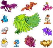 Colección del carácter: Pájaros Imágenes de archivo libres de regalías