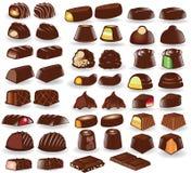 Colección del caramelo de chocolate Imagen de archivo libre de regalías