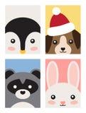 Colección del cartel de los animales en el ejemplo del vector stock de ilustración