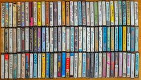 Colección del casete audio imagen de archivo libre de regalías
