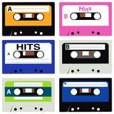 Colección del cassette Foto de archivo libre de regalías