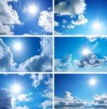 Colección del cielo Fotografía de archivo