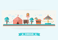 Colección del circo con carnaval Imagenes de archivo