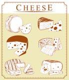 Colección del clipart del vector de queso Imagen de archivo