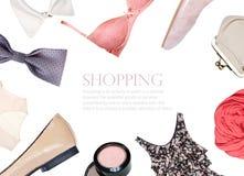 colección del collage de ropa del verano Foto de archivo libre de regalías