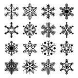 Colección del copo de nieve del vector Foto de archivo