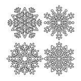 Colección del copo de nieve del vector Imagenes de archivo