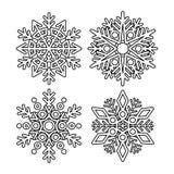 Colección del copo de nieve del vector Foto de archivo libre de regalías