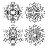 Colección del copo de nieve del vector Fotos de archivo