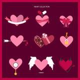 Colección del corazón Foto de archivo libre de regalías