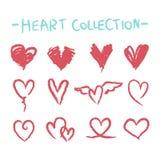 Colección del corazón Fotografía de archivo libre de regalías