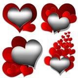 Colección del corazón Imagen de archivo libre de regalías
