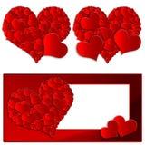 Colección del corazón Fotos de archivo libres de regalías