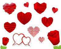 Colección del corazón del día de tarjeta del día de San Valentín Fotos de archivo libres de regalías