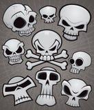 Colección del cráneo de la historieta Fotografía de archivo