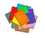 Colección del cuaderno Fotos de archivo libres de regalías
