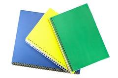 Colección del cuaderno. Fotografía de archivo libre de regalías
