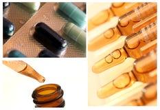 Colección del cuadro de la droga/de la medicina Fotos de archivo libres de regalías