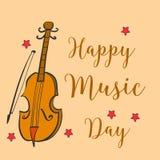 Colección del día de la música del estilo de la tarjeta