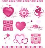 Colección del día de tarjeta del día de San Valentín Fotografía de archivo libre de regalías