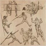 Colección del deporte - paquete dibujado mano del vector Imágenes de archivo libres de regalías