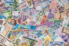Colección del dinero del mundo como fondo foto de archivo libre de regalías