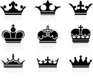 Colección del diseño de la corona Fotografía de archivo libre de regalías
