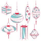Colección del diseño de la linterna Fotografía de archivo libre de regalías
