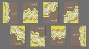 Colección del diseño de la página delantera Foto de archivo