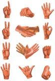 Colección del diseño de las manos Fotografía de archivo