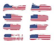 Colección del diseño de los indicadores americanos stock de ilustración
