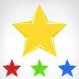 Colección del elemento de la estrella de cuatro colores Imagenes de archivo
