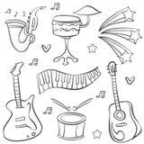 Colección del elemento de la música del garabato diversa libre illustration