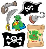 Colección del equipo del pirata Imagenes de archivo