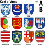 Colección del escudo de armas Imagen de archivo libre de regalías