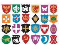 Colección del escudo de armas ilustración del vector