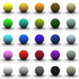 colección del espacio en blanco de la esfera 3D Imagen de archivo libre de regalías