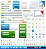 Colección del extremo de los elementos del diseño de Web