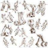 Colección del fútbol Imagenes de archivo