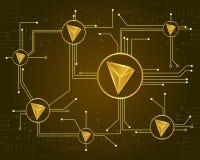 Colección del fondo del diseño del blockchain de Tron libre illustration