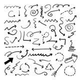 Colección del garabato de la flecha del vector stock de ilustración