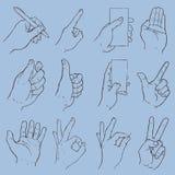 Colección del gesto de mano Fotos de archivo