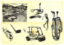 Colección del golf Imagenes de archivo